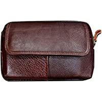 """Men's Belt Pouch Holster Waist Bag Fanny Packs Leather Purse Wallet Pocket Casual Retro Fashion Cell Phone Case Belt Clip Travel Sport Messager Bag for 6"""" Cellphone iPhone Samsung Huawei (Horizontal)"""