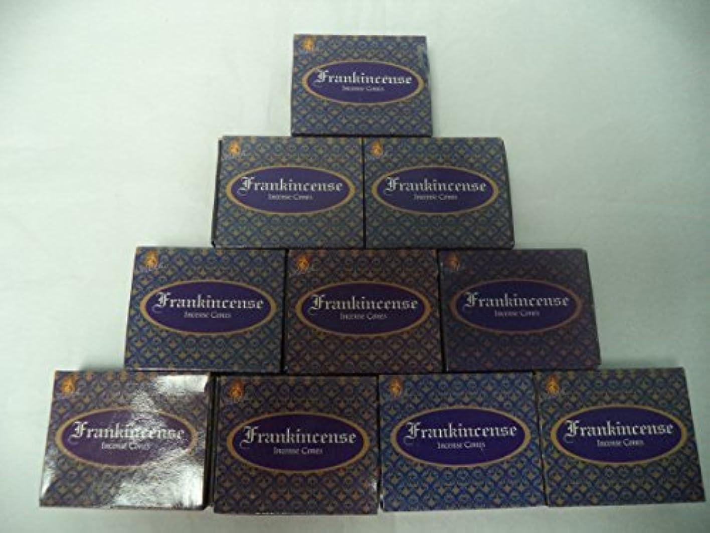 スラッシュ葉花輪Kamini Incense Cones : Frankincense – 10パックの10 = 100 Cones