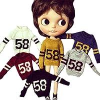 (ドーリア)Dollia ブライス 1/6ドール用 アウトフィット ニット セーター デザイン ドレスセット ネオブライス ドール 人形 全6色 (ライトグレー)