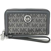 Michael Kors 2019 Fulton Large Flat Leather Phone Case Wristlet (Heather Grey)