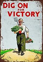 Dig on for Victory ティンサイン ポスター ン サイン プレート ブリキ看板 ホーム バーために