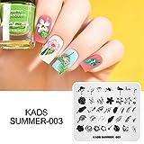 KADS ネイルスタンピングプレート ネイルプレート 夏の日 緑の葉/動物 ネイルイメージプレート ネイルアート道具 (SU003)