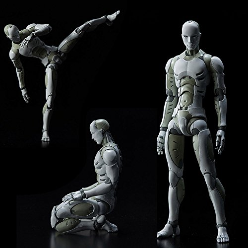 Symboat モデル人形 マネキン デッサン ドール 総合人間の男たち ボディ アクション フィギュア 置物 1/12 スケールプレイトイ 筋肉質体型 フィギュア 素体 人形