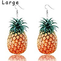 Trendy Statement Creative Funny Lifelike Fruits Acrylic Earrings for Women/Girl's,Large Size