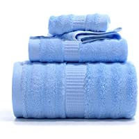 Mush Ultra Soft, Absorbent and Antimicrobial 600 GSM 3 Piece (Bath, Hand and Face) Bamboo Towel Set (Blue, Cream,Brown, Pink, Green, 5)