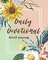 Daily Devotional SOAP Journal-Easy & Simple Guide to Scripture Journaling-Bible Study Workbook 100 pages Book 12: Guide To Journaling Scripture Using SOAP Method Faith-Based Guided Journal Adults Teens Kids