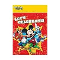 Bargain World ミッキーマウスパーティー用ルートバッグ (8個入り) (付箋付き)