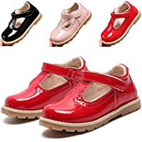 DADAWEN Girl's T-Strap School Uniform Dress Shoe Mary Jane Princess Flat