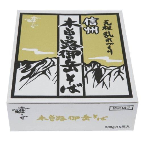 はくばく 霧しな 信州木曽路御岳そば 1箱(200g×5袋入...