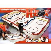ボックスHockey Game with Fiberglass Sticks & Real Puck