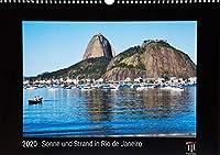Sonne und Strand in Rio de Janeiro 2020 - Black Edition - Timokrates Kalender, Wandkalender, Bildkalender - DIN A3 (42 x 30 cm)