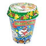 【クリスマスお菓子】チロルチョコ クリスマスカップ・40個入り(5カップ)  / お楽しみグッズ(紙風船)付きセット