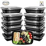 Meal Prep Containers, [20 Pack] Yachee 32oz 1 Compartment Food Storage with lids - BPA FREE, Stackable, Reusable, Leak Proof, Microwaveable, Dishwasher and Freezer Safe Lunch Boxes for Portion Control