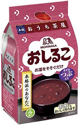 森永製菓 フリーズドライ おうち茶屋 おしるこ 4食×10袋入×2 まとめ買い