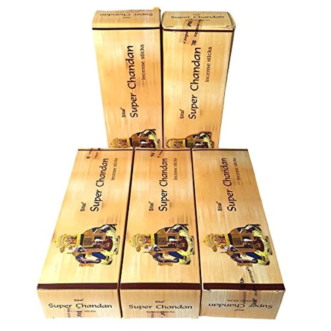 シーン光沢知らせるスーパーチャンダン香 スティック 5BOX(30箱)/SITAL SUPER CHANDAN/ インド香 / 送料無料 [並行輸入品]