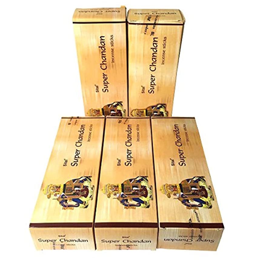 発行する炭素平等スーパーチャンダン香 スティック 5BOX(30箱)/SITAL SUPER CHANDAN/ インド香 / 送料無料 [並行輸入品]