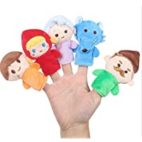 ychoice面白いFinger Puppets Toy 5 PcsソフトEducational Hand Puppetセットストーリー人形おもちゃfor赤ちゃんand Toddlers ( Little Red Riding Hood )