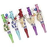 Luxury Elegant Lady Holder Suction Nozzle Mouth Tips Diamond Jewelry Cool Animal Shape Decorated Exquisite Designed Accessory