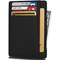 Kalmore Credit Card Holder Genuine Leather Slim & Thin Pocket Wallet Minimalist Wallet Money Clip RFID Blocking