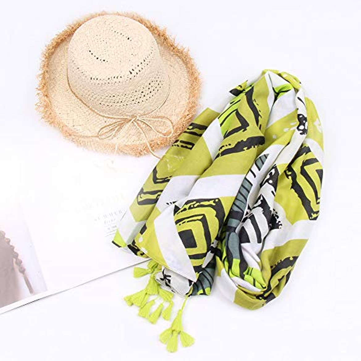 気配りのある人工的なオーバーヘッドDesspo 女性スリーブストライププリントスカーフファッションレトロ女性多目的ショールレディースアローパターン無限ラップスカーフ