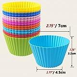 Daixers ベーキングカップ 耐熱・耐油 シリコーン製 食品レベル お菓子 手作り 製菓用品 マフィン型用 24個セット