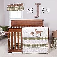 トレンドラボディアーロッジ3ピースベビー寝具セット、クリーム