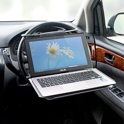 サンワダイレクト 車載用ノートパソコンテーブル アルミ カーテーブル ランチテーブルにも 100-014