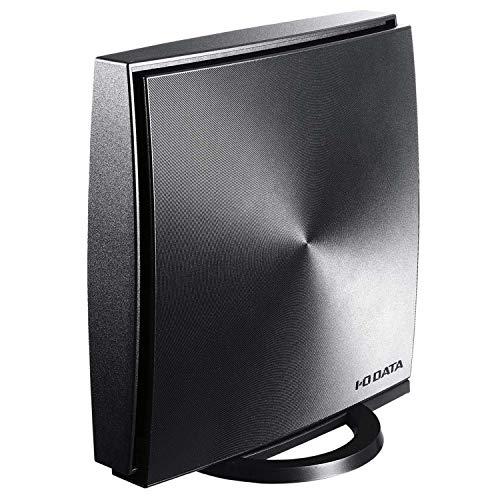 I-O DATA WiFi 無線LAN ルーター ac1200 867+300Mbps IPv6 デュアルバンド チャコールグレー  標準モデル 3...