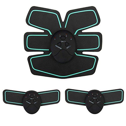 AKNONRE 腹筋ベルト EMS 筋トレマシン 腹筋 腕筋 静音 6種類モード 10段階強度