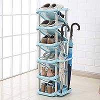 SLH 靴の棚の寮簡易ストレージ世帯大容量スペースレイヤー多機能学生ナロードア小型靴ラック (Color : Light blue)
