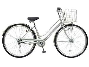 CHACLE(チャクル) 空気入れ不要! ノーパンク自転車 シティサイクル 27インチ [内装3段変速、LEDオートライト、BAA仕様] シルバー CHN-CC273PLHD-BAA