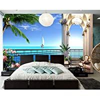 Mingld 美しいオーシャンビュー3 D壁紙、リビングルームのソファテレビ壁の寝室レストランバー壁画壁紙用カフェ-250X175Cm