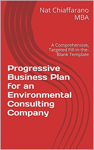 Progressive Business Plan For An Environmental Consulting Company - Fill in the blank business plan template