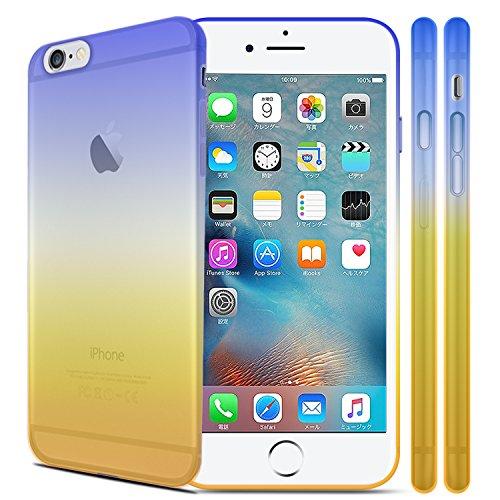 Z-NUMBER1 iPhone6/iPhone6s(4.7インチ)用 グラデーション 衝撃吸収 シリコンケース TPUケース スマホ スマートフォン ケース カバー スマホカバー スマホケース シリコンカバー iPhone6 iPhone6s アイフォン6 アイフォン6s アイフォン6ケース アイフォン6sケース iphone6ケース ソフトケース 人気 衝撃 a058 15ID12-3-YELBLU