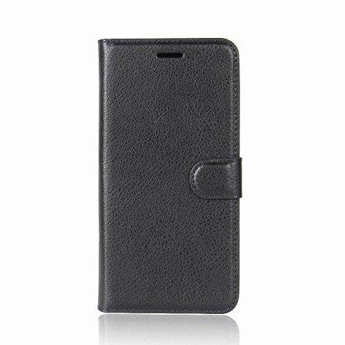 AIYOPEEN BLU Grand M 専用 PU レザー ケース 手帳型 カバー カード収納 ケース(黒)