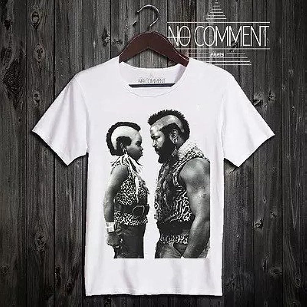 即席ペナルティギャラリー★NO COMMENT PARIS(ノーコメントパリ)★Tシャツ 「Mr T vs Arnold」