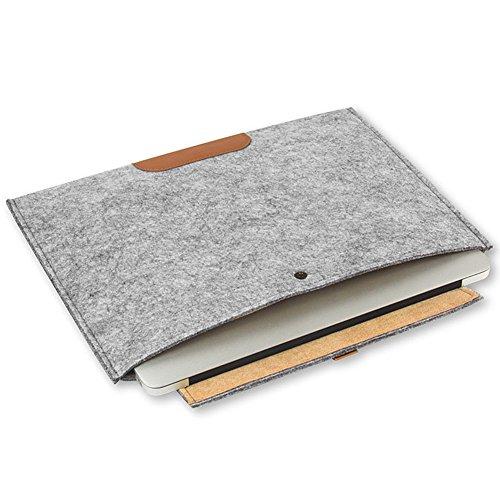 adunluluラップトップ スリーブ ケース バッグ フェルト 素材ノートブック用 11.6インチGray