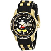 Invicta Disney Limited Edition Lady 38mm Stainless Steel Gold Black dial VJ43 Quartz, 30712