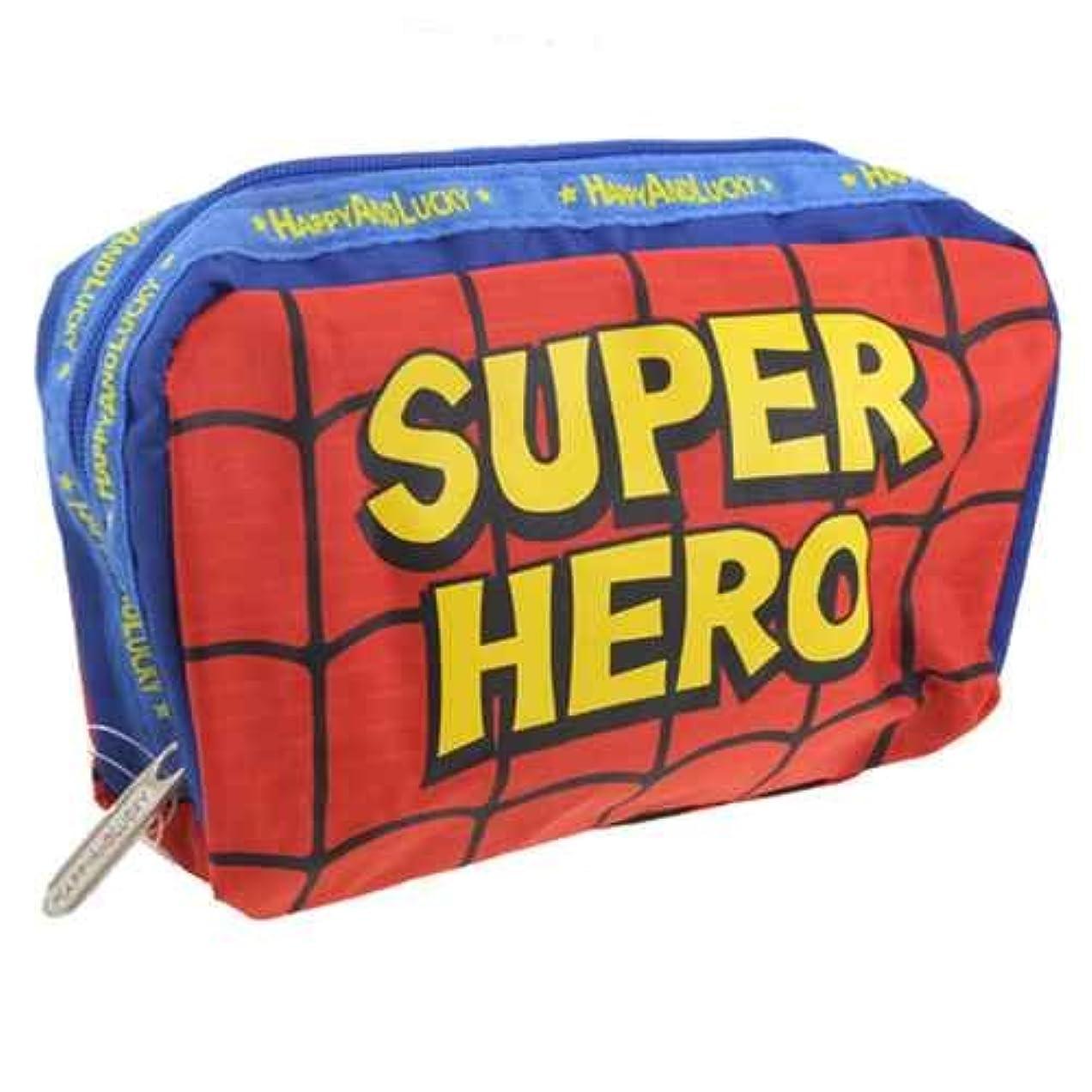 きれいに外国人貞SUPER HERO/スーパーヒーロー スクエアポーチ可愛いコスメポーチ(小物入れ)通販/