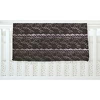 KESS InHouse Heidi Jennings Black Lace Gray Fleece Baby Blanket 40 x 30 [並行輸入品]