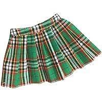 Lovoski かわいい 1/6スケール ミニ チェック柄 スカート ドレス 12インチ アクション女性の体適用  装飾 全5色選べる  - 緑色