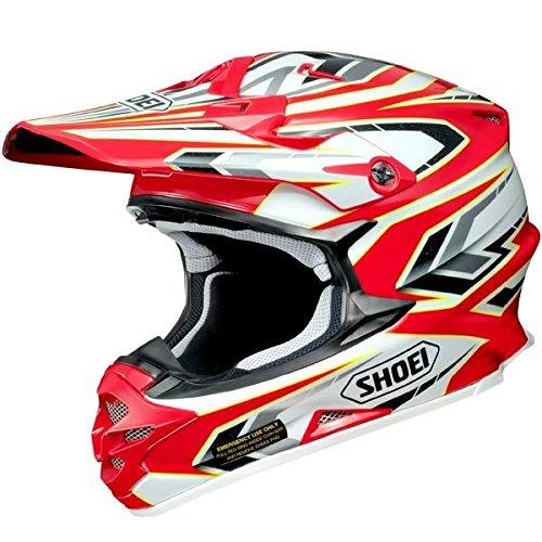Shoei ショウエイ VFX-W BLOCK PASS Helmet 2015モデル オフロード ヘルメット レッド/ホワイト/イエロー S(55~56cm)