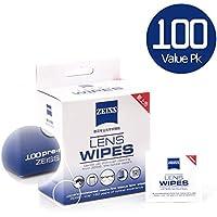 Zeiss レンズクリーニングディッシュ 液晶画面 カメラレンズ メガネ用 100枚入り 個装 Cleaning Wipes