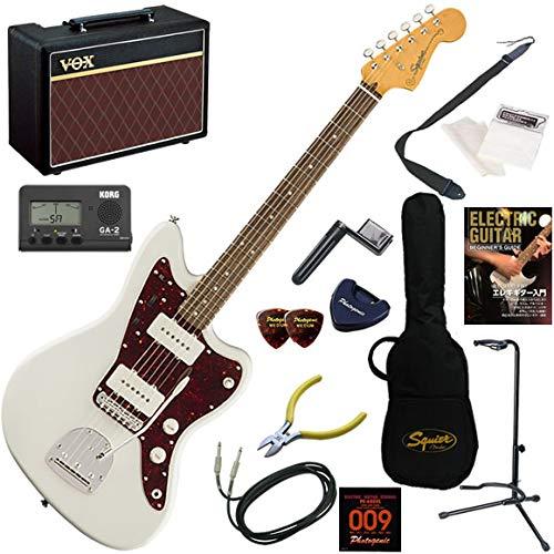 Squier エレキギター 初心者 入門 アルニコシングルPUを搭載したジャズマスター。 人気のVOX Pathfinder10が入った本格14点セット Classic Vibe '60s Jazzmaster/OWT(オリンピックホワイト)