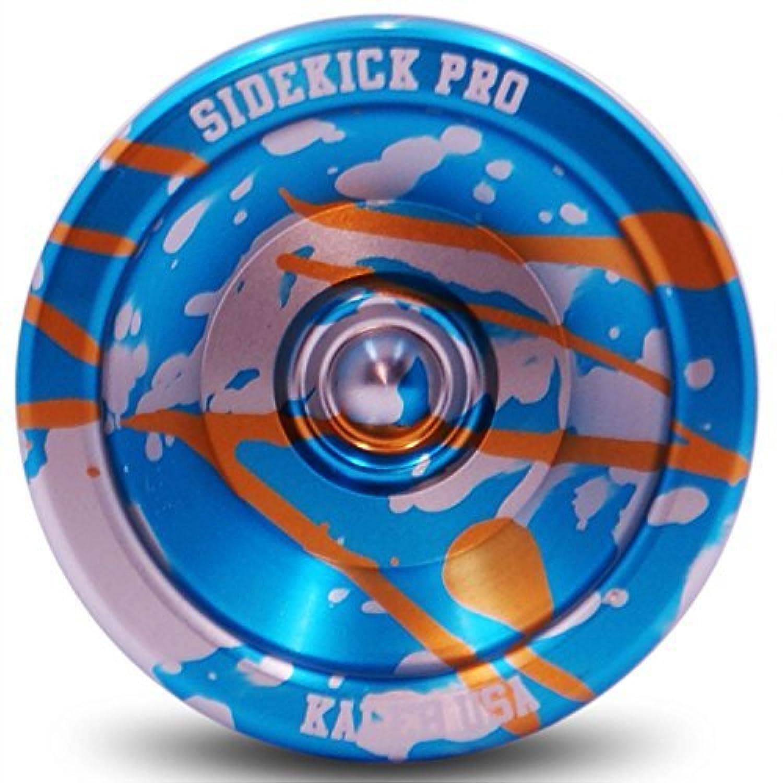 Blue Silver Gold Splashes Yo-Yo Professional Aluminum Sidekick Pro YoYo [並行輸入品]