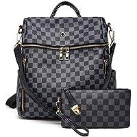 Backpack for women Fashion Leather Ladies Rucksack Crossbody Shoulder Bag 2pcs Purses Backpack Set