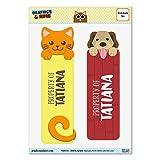 タチアナオレンジ猫と2光沢ラミネートブックマークの犬セット