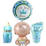 新生児 ベビーシャワー クリスマス 誕生日パーティー 4PCS ガール ホイル ヘリウムバルーン 風船