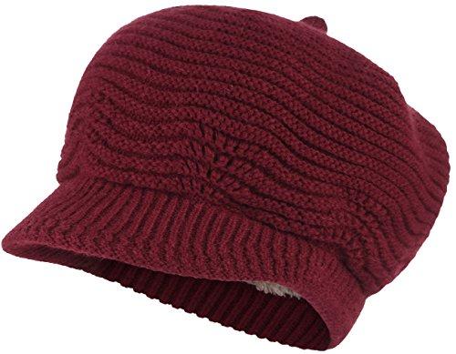 C-Princess winter knit hat knit Newsboy cap beret brushed back I had ladies Tsubatsuki small face effect Fall casual