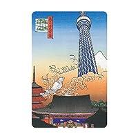 カードサイズマグネット 版画/浅草風景図